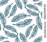 abstract vector seamless... | Shutterstock .eps vector #586490933