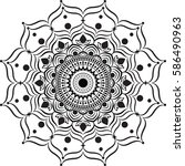 mandala art in vector | Shutterstock .eps vector #586490963