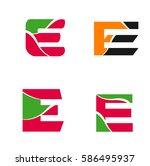 logo letter e. element and... | Shutterstock .eps vector #586495937