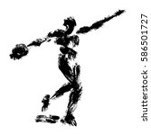 discus thrower  made in a... | Shutterstock .eps vector #586501727