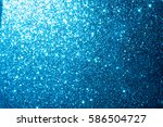 abstract blue bokeh circles... | Shutterstock . vector #586504727
