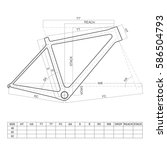 bicycle frame drawing | Shutterstock .eps vector #586504793