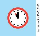 clock icon  11 o'clock vector... | Shutterstock .eps vector #586513103