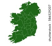there is a map of ireland... | Shutterstock .eps vector #586529207