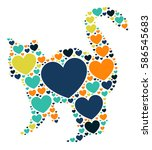 cat shape vector design... | Shutterstock .eps vector #586545683