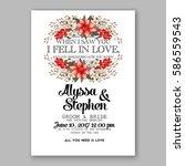 romantic wedding invitation... | Shutterstock .eps vector #586559543