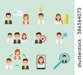 business element people... | Shutterstock .eps vector #586564073