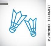 badminton icon flat. | Shutterstock .eps vector #586583597