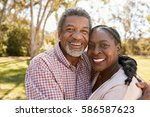 outdoor head and shoulders... | Shutterstock . vector #586587623