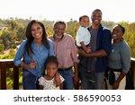 multi generation family... | Shutterstock . vector #586590053