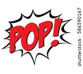 isolated comic bubble speech on ... | Shutterstock .eps vector #586590167