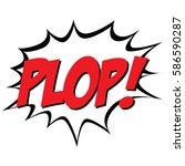 isolated comic bubble speech on ... | Shutterstock .eps vector #586590287