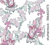 seamless ornate pattern with...   Shutterstock . vector #586602473