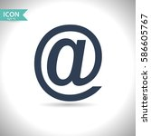 email icon. vector ... | Shutterstock .eps vector #586605767