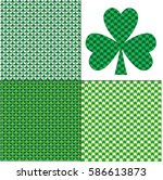 small shamrocks patterns | Shutterstock .eps vector #586613873