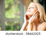 young beautiful smiling woman...   Shutterstock . vector #58662325