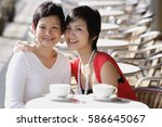 mother and adult daughter in...   Shutterstock . vector #586645067