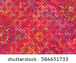 ornament abstract silhouette of ... | Shutterstock .eps vector #586651733