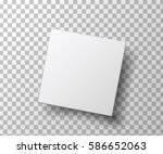 realistic white  blank package... | Shutterstock .eps vector #586652063
