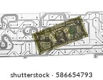 pcb printed circuit board and... | Shutterstock . vector #586654793