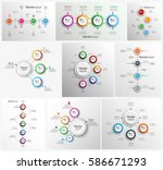 collection of colorful... | Shutterstock .eps vector #586671293