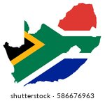 flag map of south africa | Shutterstock .eps vector #586676963