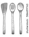 fork  spoon illustration ... | Shutterstock .eps vector #586699763