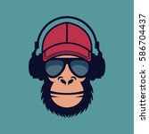Cool Monkey With Glasses And...