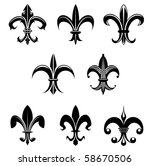 Royal French Lily Symbols  ...