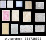 set old postage stamp | Shutterstock . vector #586728533