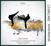 karate background | Shutterstock .eps vector #586738517