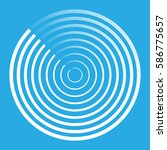 radar abstract icon symbol...   Shutterstock .eps vector #586775657