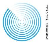radar abstract icon symbol... | Shutterstock .eps vector #586775663