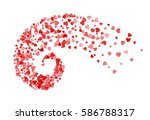abstract decoration of red... | Shutterstock .eps vector #586788317