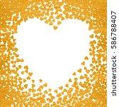 gold frame of scatter confetti... | Shutterstock .eps vector #586788407