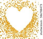 gold frame of scatter confetti... | Shutterstock .eps vector #586788473