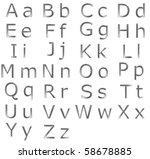 upper and lower case alphabet... | Shutterstock . vector #58678885