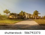 south florida single family... | Shutterstock . vector #586792373