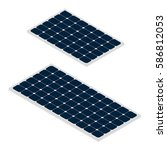 isometric sun panels isolated... | Shutterstock .eps vector #586812053