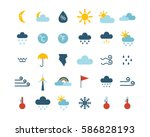 set of climate forecast weather ... | Shutterstock .eps vector #586828193