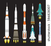 Vector Technology Ship Rocket...
