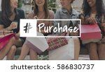 retail purchase promotion... | Shutterstock . vector #586830737