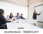 asian business people meeting...   Shutterstock . vector #586831247