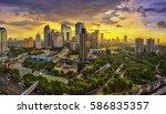 view of jakarta city  indonesia | Shutterstock . vector #586835357