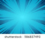 halftone comic book superhero... | Shutterstock .eps vector #586837493