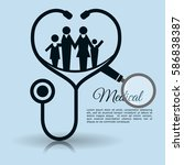 family stethoscope medical... | Shutterstock .eps vector #586838387