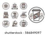 coffee badge logo food design... | Shutterstock .eps vector #586849097