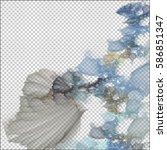background design of dreamy... | Shutterstock . vector #586851347