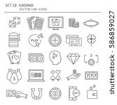 big set of symbols of casino.... | Shutterstock .eps vector #586859027