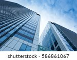 the beauty of the modern city... | Shutterstock . vector #586861067